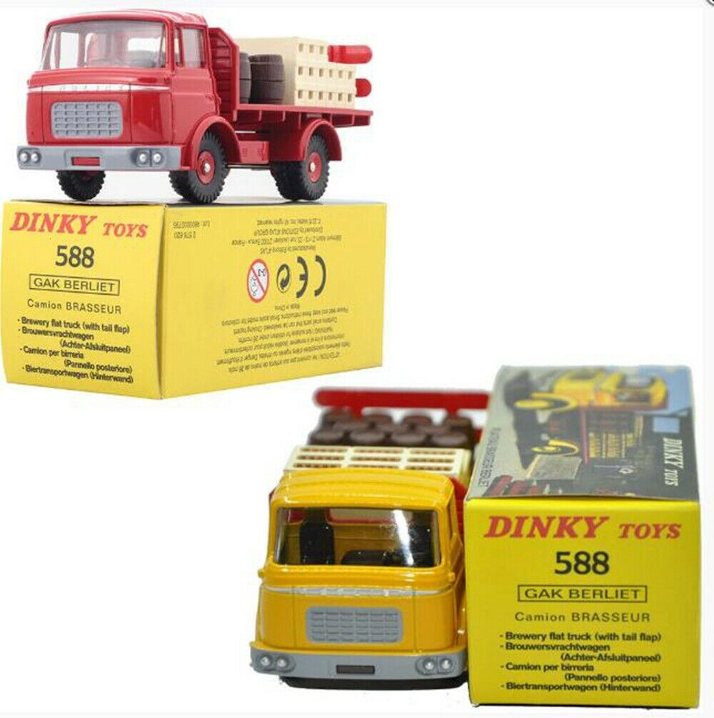 BEST 1 43 Atlas Dinky Toys model 588 Set(2pcs RED+YELLOW)  Diecast Car MODEL