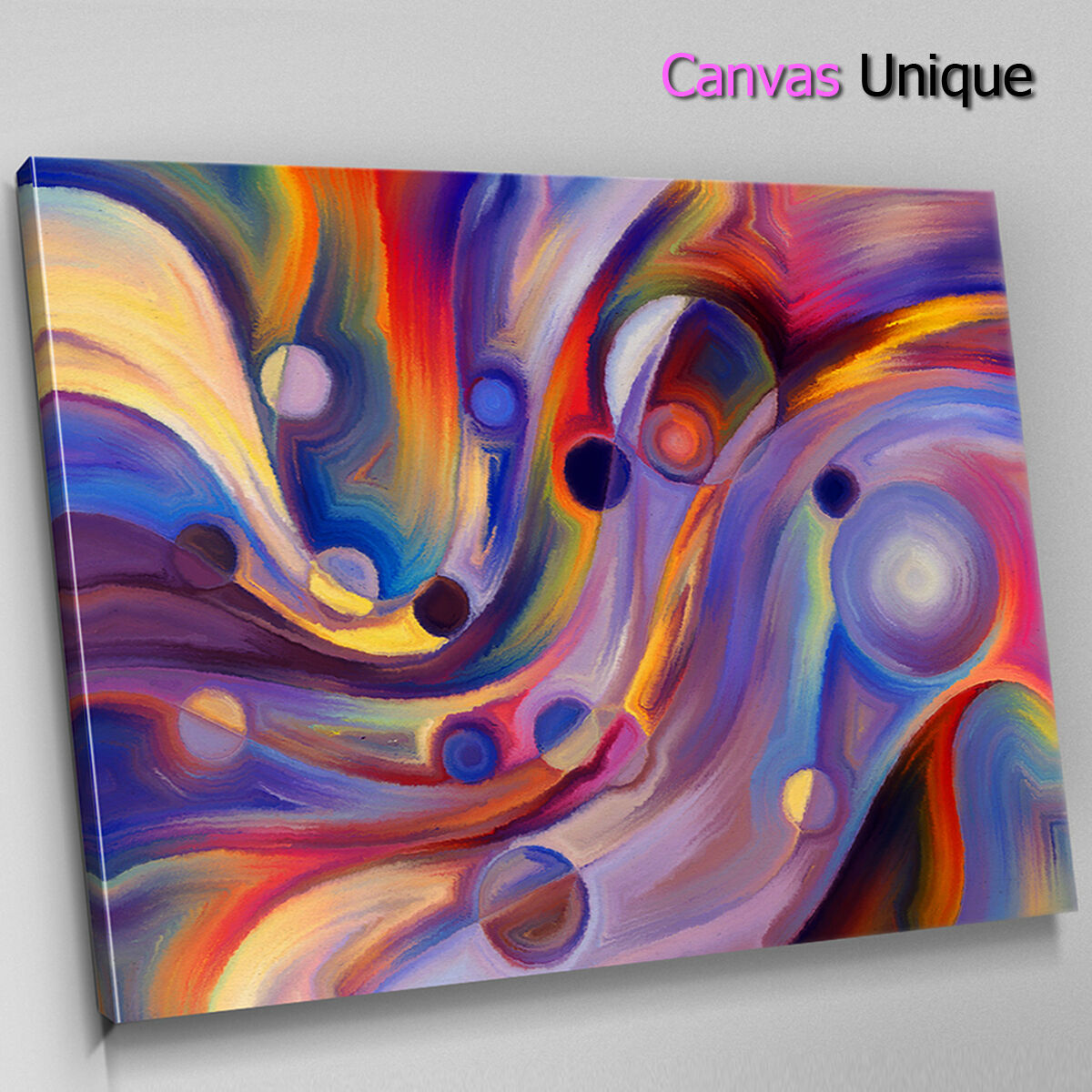 AB1593 Blau rot impressionist Abstract Canvas Wall Art Framed Picture Print