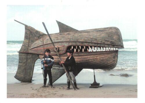 Wooden Whaler by David Kemp ER1 Art Assemblage Sculpture Postcard