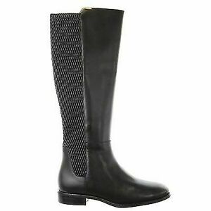 d0d01f1d217 Cole Haan Women's Rockland Black Leather Riding Boot 6