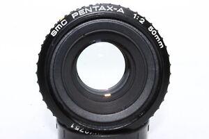 SMC-Pentax-A-50mm-f2-Manual-Prime-K-Bayonet-Mount-Lens-Very-Good-Optics