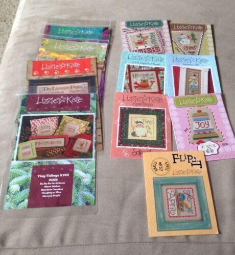 Lizzie Kate Cross Stitch PATTERN ONLY patterns lot christmas easter bundle