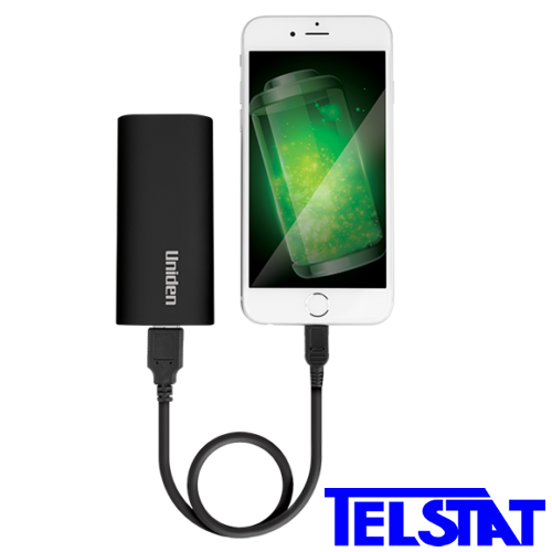 Uniden 4400 mAh Portable Powerbank to recharge iPhone, Samsung & Android phones