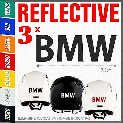 3x BMW black ADESIVI PEGATINA AUTOCOLLANT STICKERS helmet R1200 1150 F800 GS