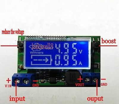 DC-DC Step-down Voltmeter Ammeter Module 3A Adjustable Power Charge LED Driver