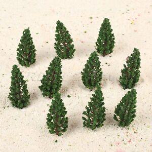 50pcs-Plastic-Green-Pine-Trees-Model-Train-Railway-Scenery-Layout-Diorama-78mm