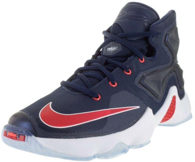 4e56dcfd065a NEW YOUTH Nike LEBRON XIII 13 USA sz 6.5Y NAVY BLUE RED WHITE Basketball  Shoes