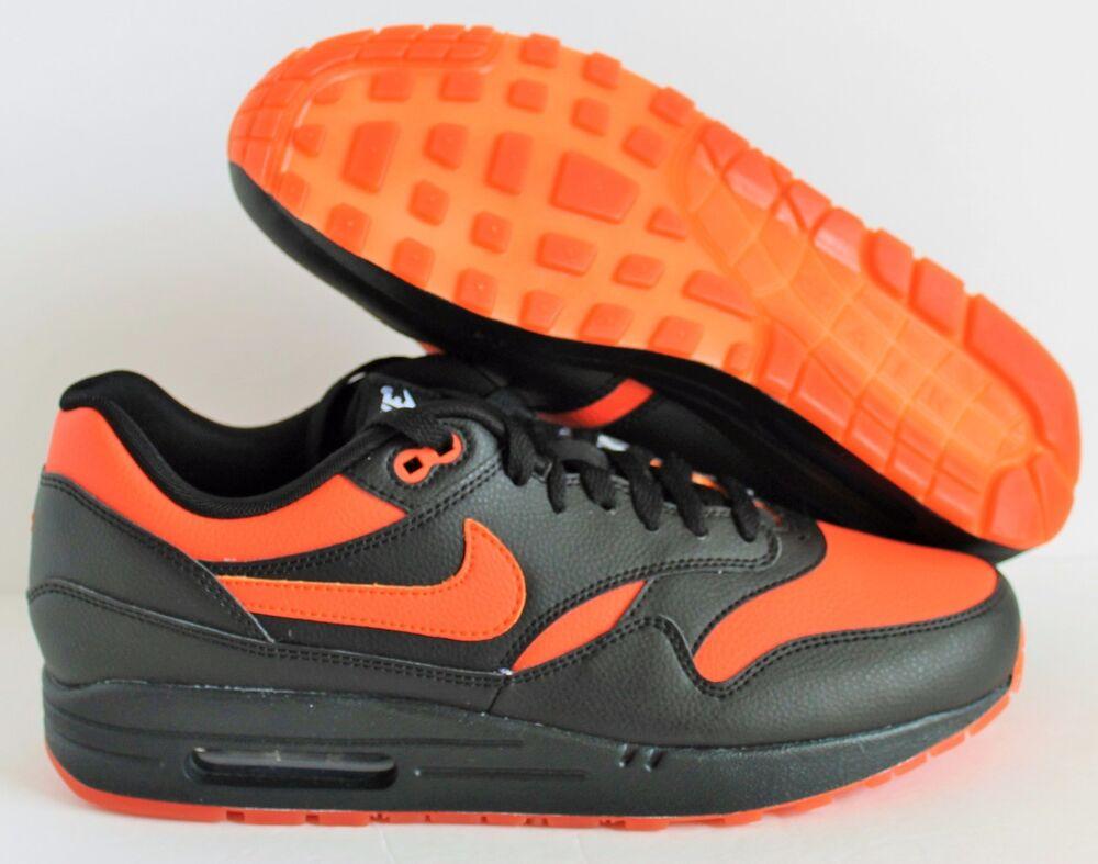 Nike homme Air Max 1 ID noir-Orange  SZ 10 [433213-999]