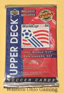 1994-Upper-Deck-World-Cup-USA-Soccer-Pack-NEW-10-Cards-Per-Pack-Football