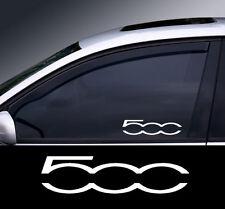 2 x Fiat 500 Logo Window Decal Sticker Graphic *Colour Choice*