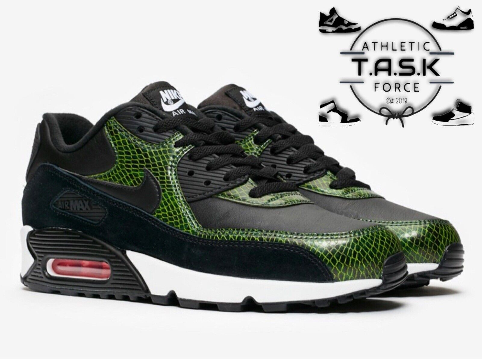 Size 10 - Nike Air Max 90 Green Python 2019 for sale online   eBay