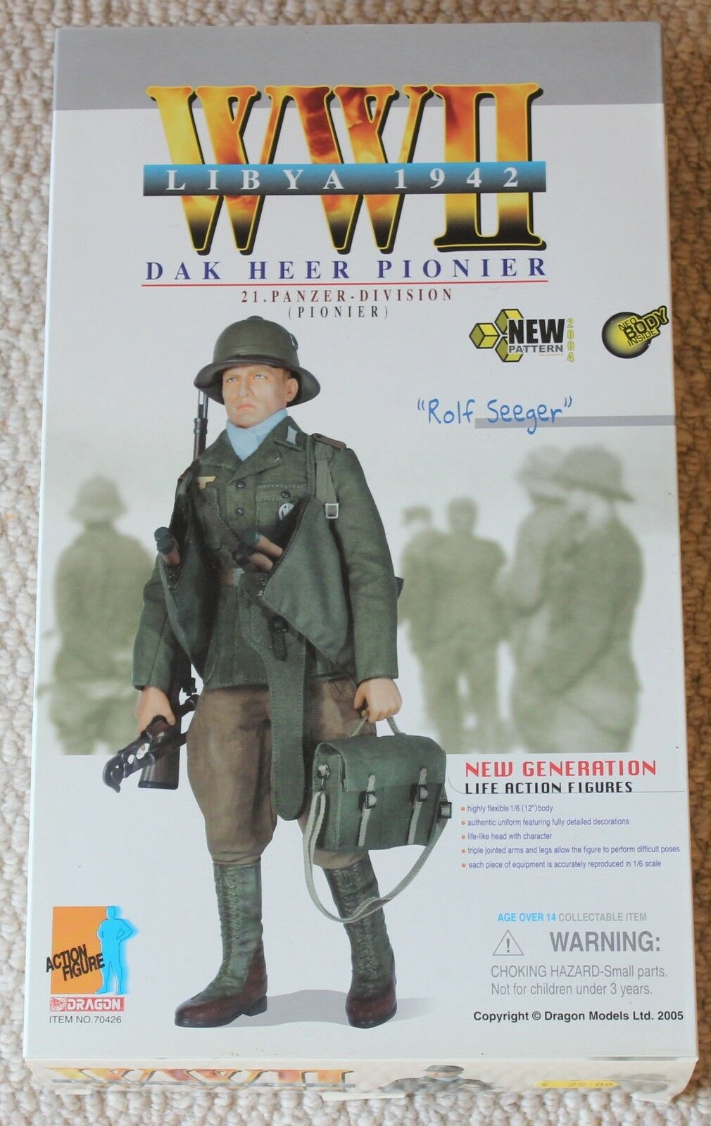 Dragon action figure german rolf afrika korp1/6 12'' boxed  did cyber hot toy