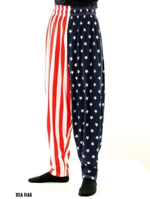 DONALD TRUMP Make America Great Again AMERICAN USA FLAG Pants- Sizes S-M-LG-XL