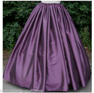 Ladies-Victorian-American-Civil-War-costume-SKIRT-177-034-hem-aubergine