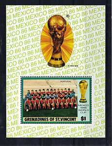 St-VINCENT-GRENADINES-1-MINIATURE-SHEET-FOOTBALL-WORLD-CUP-1986-MNH-PORTUGAL