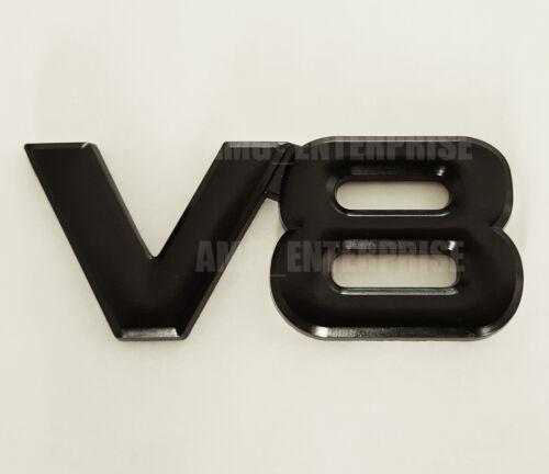 BLACK Chrome 3D Metal V8 Square Badge Emblem for Porsche 911 924 944 928 Boxster