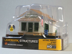 WOODLAND-SCENICS-HO-SCALE-LETTERS-PARCELS-amp-POST-OFFICE-BUILT-amp-READY-5063-NEW