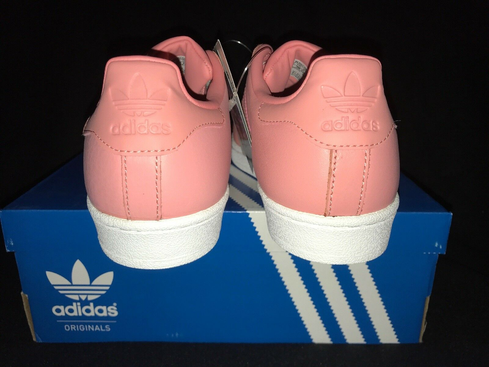 Adidas Trainers Superstar Metal Größe Toe In Rose And Weiß Größe Metal 5 993fbd