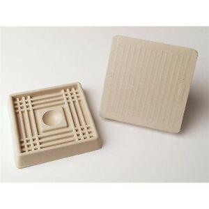 Tic Square Castor Cups 8pcs Rubber Base Prevents Skidding Almond 41 Or 51mm Ebay