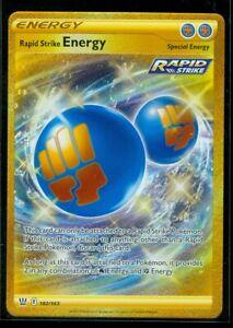 Pokemon RAPID STRIKE ENERGY 182/163 Battle Styles SECRET RARE FULL ART MINT