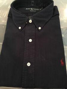 Nwt Fit knopen Polo Soft 882926370760 Navy mouwen Ralph overhemd Klassiek Xl Wash met Lauren lange en nISRnq06