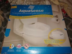 Groovy Details About New Aquasense Raised Toilet Seat With Lid White 4 Inches Nib Forskolin Free Trial Chair Design Images Forskolin Free Trialorg