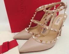Valentino Beige Rockstud leather pumps Heels IT40.5 UK7.5 New