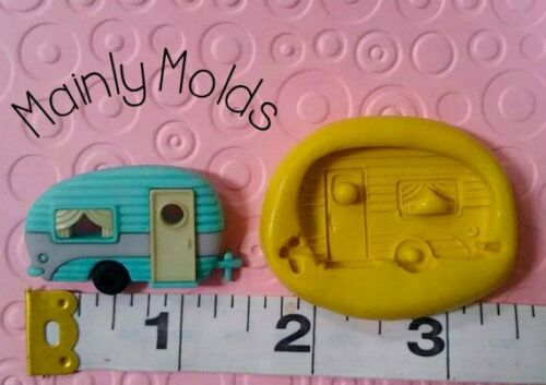CAMPER FLEXIBLE silicone mold 4 fondant polymer clay chocolate candy vintage