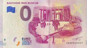 BILLET-0-EURO-BASTOGNE-WAR-MUSEUM-BELGIQUE-2019-NUMERO-DIVERS