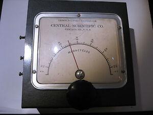 Cenco-Model-80442-Wavemeter-Central-Scientific-Co-50-200-Mhz-MC-Vintage-Used