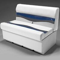 38 Pontoon Boat Seat In Gray, Blue And Charcoal