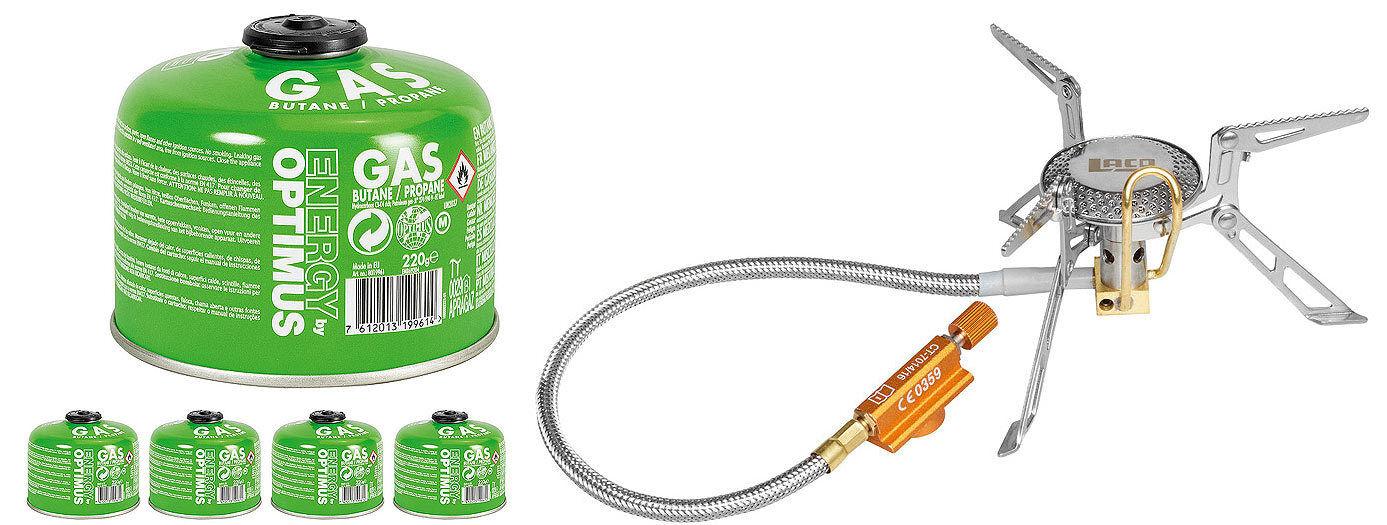 LACD Camping Gas-Kocher Patkhor + optional mit Gaskartuschen - Campingkocher