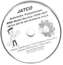 JATCO 3N71B 4N71B N4A-EL JR300H JR400H Ford Mazda Nissan Mitsu Rebuild Manuals