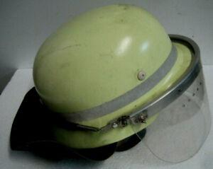 Fire Brigade Motorcycle Moped Helmet Similar .nva Steel Armed Forces Visor Neck