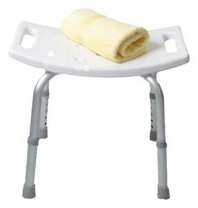 Sgabello doccia per anziani disabili sedia sedile vasca bagno altezza regolabile ebay - Sgabello per bagno ...