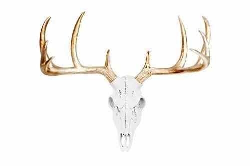 Deer Skull White Faux Animal Head Fake