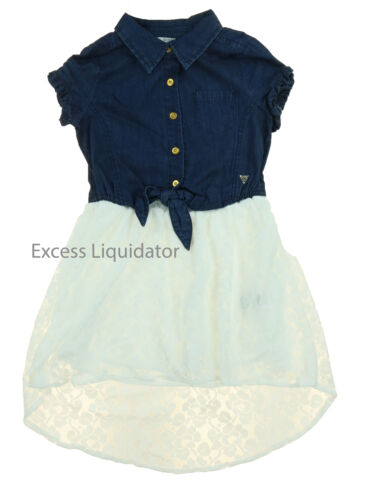 Denim Guess Jeans Kids Girls Patterned and Lace Dresses
