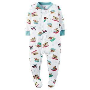 Carter s Winter Sled Dogs Knit Dog Print Sleeper Pajamas Baby Boy 18 ... 82e9f28ac