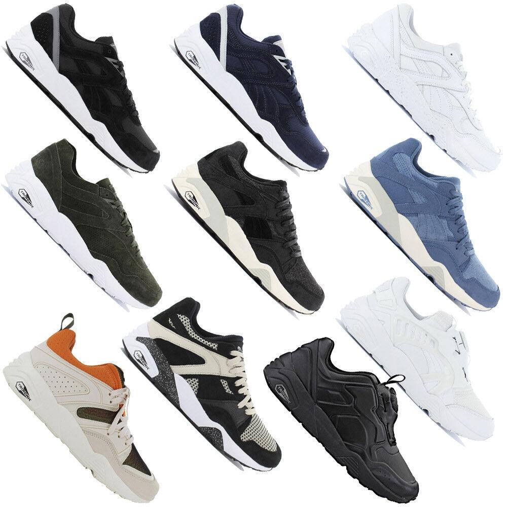 Puma TRINOMIC Premium Sneaker Herren Schuhe Turnschuhe R698 Blaze of Glory Disc