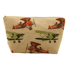 BELLY MODEN - VINTAGE PLANES TAPESTRY STYLE WASH BAG