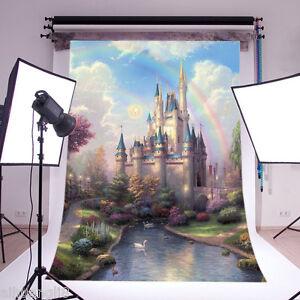 fairytale scenery vinyl photography Backdrop Background studio props 5x7FT DB759