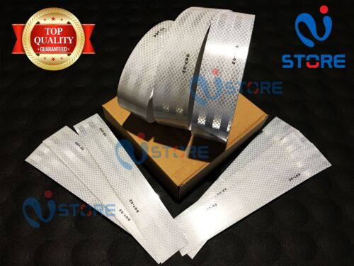 50 Ft White DOT-C2 Conspicuity Reflective Tape Safety Warning Truck Trailer Boat