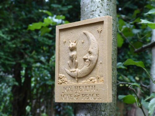 Cat and Moon Wall Plaque