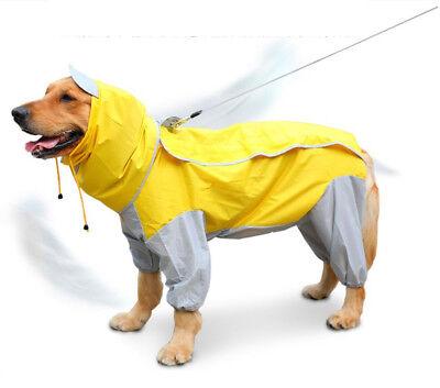 N A Impermeable para Mascotas Perros Cachorros De Perro Poncho De Lluvia con Capucha Protectora Impermeable del Perro Al Aire Libre con Banda Reflectante para Peque/ñas Medianas Grandes Perros