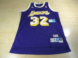 the latest c2e43 39672 Details about ADIDAS HARDWOOD CLASSICS NBA LA LAKERS MAGIC JOHNSON 32  BASKETBALL JERSEY M HWC