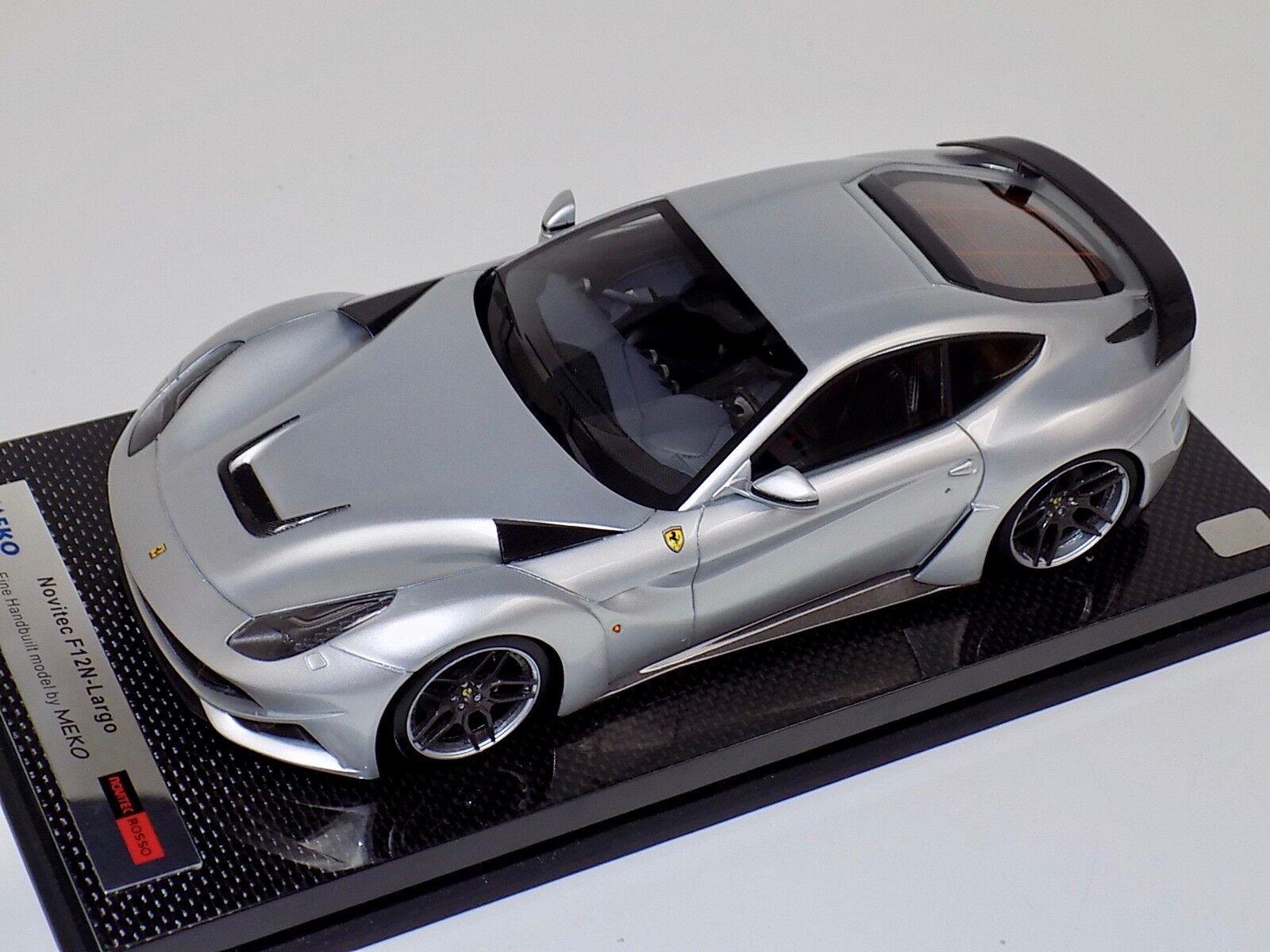 perfecto Meko 1 18 Ferrari F12 N-largo N-largo N-largo Pulsador rojo brillo de plata de Cochebono Base BBR o el Sr.  Todos los productos obtienen hasta un 34% de descuento.