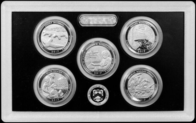 5 Coin Set Only! 2017-S 225th Anniversary Enhanced Uncirculated Quarter Set