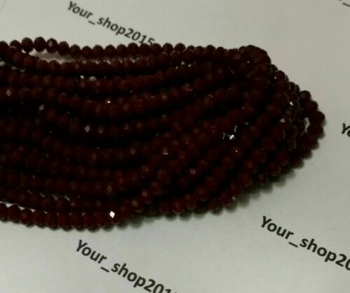 100 Faceted Rondelle Crystal Glass Beads 55 COLOUR  6mm  FREE P/&P Loose beads