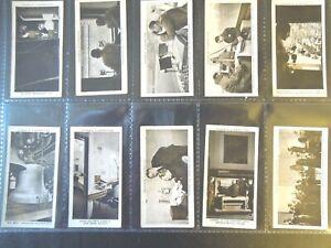 1935-Ogdens-BROADCASTING-radio-history-complete-set-50-cards-Tobacco-Cigarette