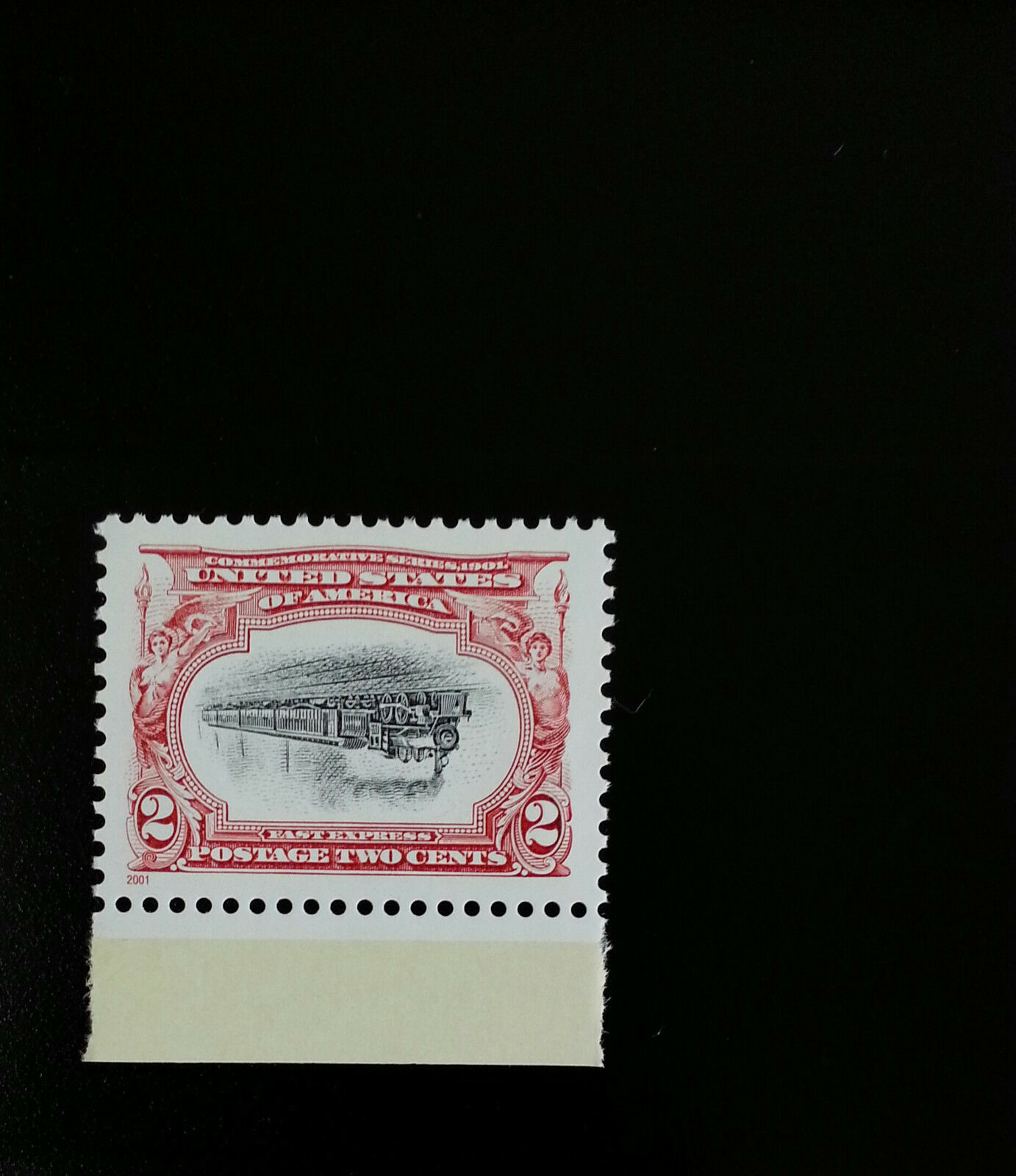 2001 2c Pan-American Inverts, Empire State Express, Tra
